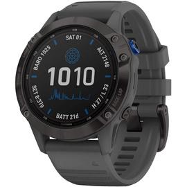 Garmin fenix 6 Pro Solar schwarz mit schiefergrauem Armband