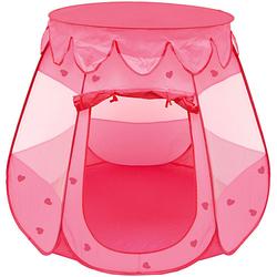Mädchen Pop Up Spielzelt - Bällebad Kinderzelt Rosa rosa