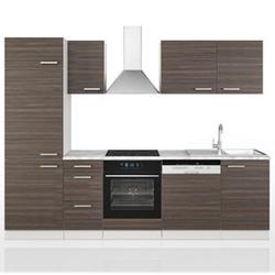Vicco Küche 270 cm Küchenzeile Küchenblock Einbauküche  Edelgrau