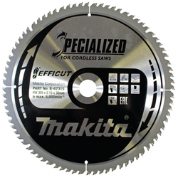 Makita B-67315 Specialized Sägeblatt 305x30x80Z Kapp- und Gehrungssägeblatt