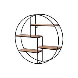 Rundes Wandregal mit 4 Fächer