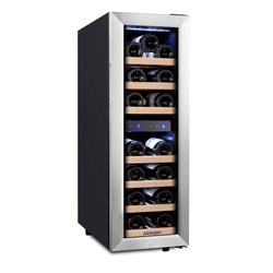 kalamera Weinkühlschrank KRC-75BSS, für 19 Standardflaschen á 0,75l,2 zonen