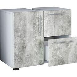 VCM my bath Waschbeckenunterschrank Flandu beton / weiß