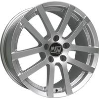 MSW 22 full silver 6.5x16 ET45 - LK5/112 ML57.06 Alufelge silber