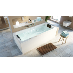 Emotion Whirlpool-Badewanne Deluxe Whirlpool OMEGA ULTRA 190 ohne Armatur