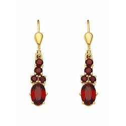 Adelia´s Paar Ohrhänger 333 Gold Ohrringe / Ohrhänger mit Granat
