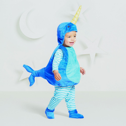 Halloween Baby Plush Narwhal Vest Costume - 0-6 Months - Hyde & EEK! Boutique , Adult Unisex