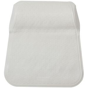 Sealskin Rubelle Badewannenkissen aus hautfreundlichem Gummi, mit angeformtem Rückenteil, Farbe: Weiß, Größe: 41x33 cm