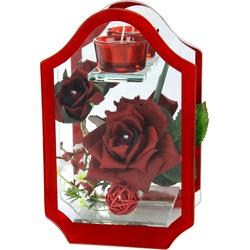 I.GE.A. Kunstblume (1 Stück) rot Kunstblumen Kunstpflanzen Wohnaccessoires
