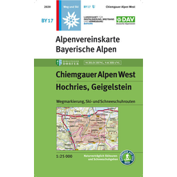Chiemgauer Alpen West Hochries Geigelstein 1 : 25 000