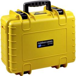 B & W Outdoor Koffer outdoor.cases Typ 4000 16.6l (B x H x T) 420 x 325 x 180mm Gelb 4000/Y/SI