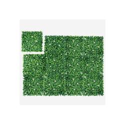 Kunstpflanze 12Stk. Künstliches Pflanzenwand, Heckenpflanze, COSTWAY, für Garten Dekor, 50x50cm 50 cm x 50 cm
