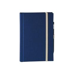 memo Skizzenbuch Leinen A6, (B 92 X H 134 mm) blau, 160 Seiten, Zeichenband,...