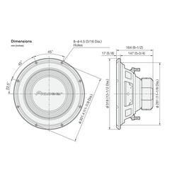 Pioneer Subwoofer (Pioneer TS-A300D4 - 30cm Subwoofer)