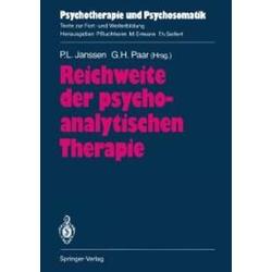 Reichweite der psychoanalytischen Therapie: eBook von