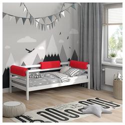 Bettumrandung Bettkantenschutz Kinderbett Kantenschutz rot Babybett VitaliSpa® rot
