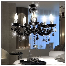 etc-shop Kronleuchter, LED 15 Watt Hängeleuchte Hängelampe Kronleuchter Deckenbeleuchtung Lampe Luster schwarz