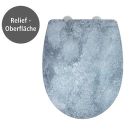WENKO WC-Sitz Cement mit Relief (1-St), Thermoplast