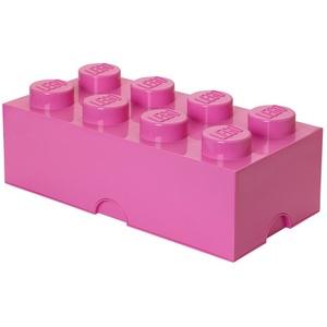 LEGO Storage Brick 8 Knöpfe, stapelbar Aufbewahrungsbox, 12 l, Plastik, Hellrosa, Large