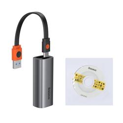 Baseus Baseus externer Netzwerkadapter Splitter HUB RJ45 port Gigabit Ethernet LAN Netzwerk Adapter für Smartphone, Laptop,Notebook in grau HUB