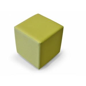 Sitzhocker 48x43x43 Sitzwürfel grün Beistellhocker KUBUS Leder-Look Hocker