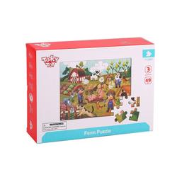 Tooky Toy Puzzle Tooky Toy Puzzle 48 Teilig - ab 3 Jahren Motorik-Spiel Kinder-Puzzle Kinderspiel, Puzzleteile