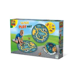 SES Creative Lernspielzeug Safari Spielmatte und Aufräumsack 2 in 1 (6-St) bunt