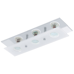 Eglo LED-Deckenleuchte Arborio in chromfarbig, 3-flammig