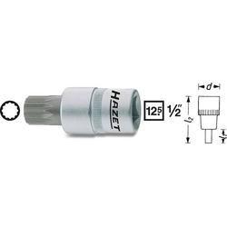 Hazet 990-6 Innen-Vielzahn (XZN) Steckschlüssel-Bit-Einsatz 6mm 1/2  (12.5 mm)