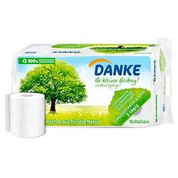 DANKE Toilettenpapier 3-lagig 16 Rollen