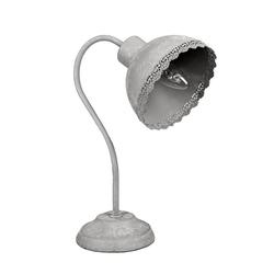 Grafelstein Tischleuchte Schreibtischlampe CLAUDINE grau Metall shabby chic Landhaus Lampe Tischlampe E14