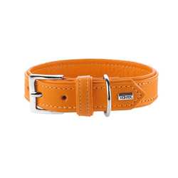 Hunter Hundehalsband Wallgau Leder, 60, orange, Leder