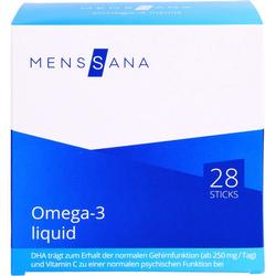 OMEGA-3 liquid MensSana Sticks 28 St.