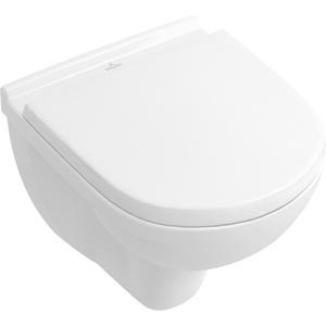 Villeroy & Boch Tiefspülklosett spülrandlos compact ohne Novo 360 x 490 mm Weiß, 5688R001