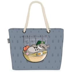 VOID Strandtasche (1-tlg), Ramen Totoro neko mein nachbar anime grau