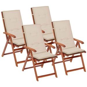 UBaymax Gartenstuhl Auflage Hochlehner 4 STK. 120 x 50 x 3 cm, weich Stuhlauflage Gartenauflagen Sitzkissen Rückenkissen für Hochlehner-Gartenmöbel