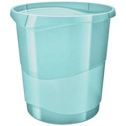Papierkorb Colour'Ice PP 14l transparent blau