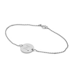 Armband aus Gold mit blauen Diamanten und personalisierter Gravur Michela