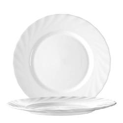 Dessertteller 19,5 cm Form Trianon uni weiß - ARCOPAL