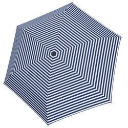 Tamaris Taschenregenschirm Tambrella Light, Stripe Blue, Ultraleicht