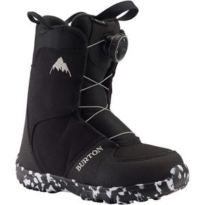 Burton Kinder Grom Boa Snowboard Boot, Black, 11C