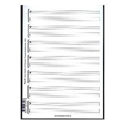 Noten- & Tabulatur-Block für Bassisten - Buch