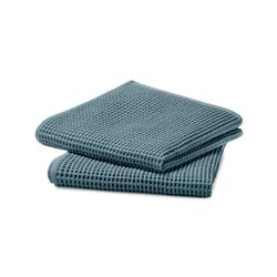 2 Waffelpiqué-Handtücher