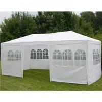 HI Pavillon 3 x 6 m inkl. Seitenteile weiß