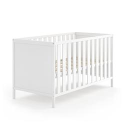 VitaliSpa® Babybett JONAS 70x140cm Gitterbett Umbaubett Kinderbett umbaubar weiß
