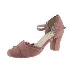 Hirschkogel Pumps mit Knöchelriemchen rosa 38