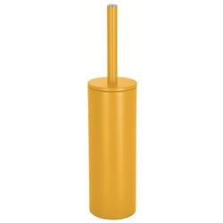 spirella Toilettenpapierhalter WC-Bürste AKIRA, Toilettenbürste mit hygienischem Innenbehälter, mit Deckel, matt-satiniert, gelb gelb