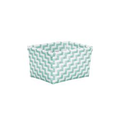 Kleine Wolke Aufbewahrungsbox Double Laundry in salbeigrün, 12 x 16,5 x 20 cm