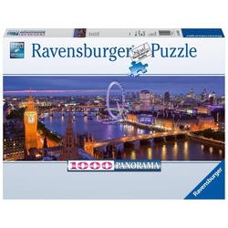 London bei Nacht. Panorama Puzzle 1000 Teile