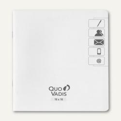 """Quo Vadis """"Executif"""" Adress-/Telefonverzeichnis - 16 x 16 cm, weiß, 711020Q"""